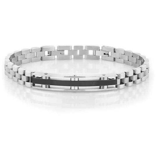 316L Steel-Leather Bracelet